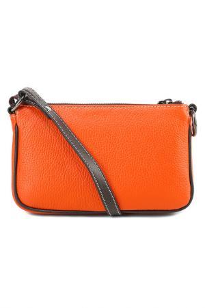Сумка-клатч GIOSTRA. Цвет: оранжевый