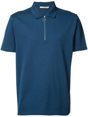 Рубашка-поло с молнией Vince. Цвет: синий