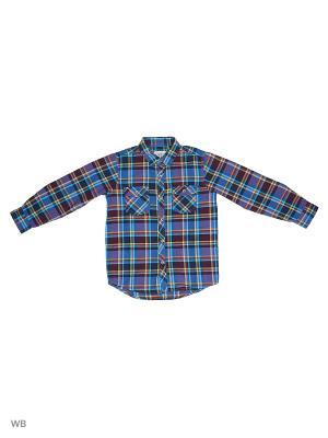 Рубашка SELA. Цвет: индиго