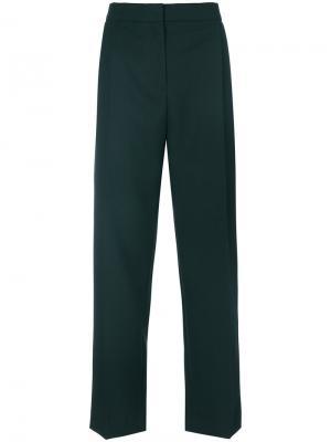 High-waist trousers Carven. Цвет: зелёный
