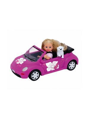 Еви + машинка, 6/24 Simba. Цвет: розовый, белый