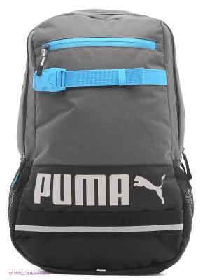 Рюкзак PUMA Deck Backpack. Цвет: бирюзовый, серый, голубой