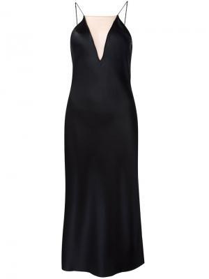 Платье на бретельках с прозрачной панелью Fleur Du Mal. Цвет: чёрный