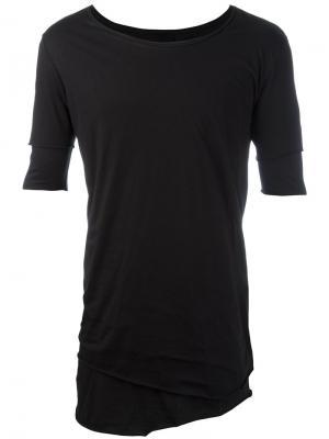 Многослойная футболка с необработанным подолом Thom Krom. Цвет: чёрный