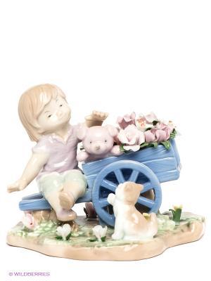 Фигурка Цветы в подарок Pavone. Цвет: бледно-розовый, сиреневый, бежевый