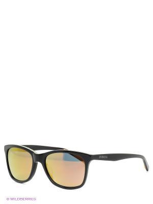 Очки солнцезащитные BK 665 05 Bikkembergs. Цвет: коричневый