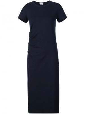 Платье с драпировкой Brunello Cucinelli. Цвет: чёрный
