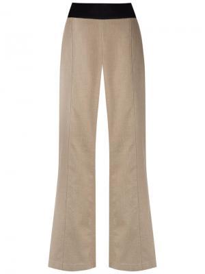 Wide leg trousers Osklen. Цвет: телесный