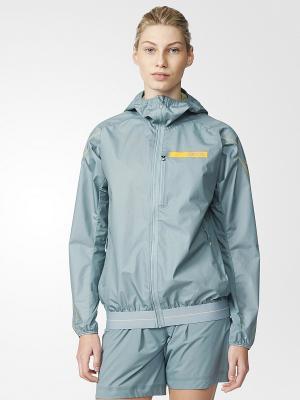 Куртка TERREX AGRAVIC HYBRID SOFT SHELL HOODED JACKET Adidas. Цвет: серый