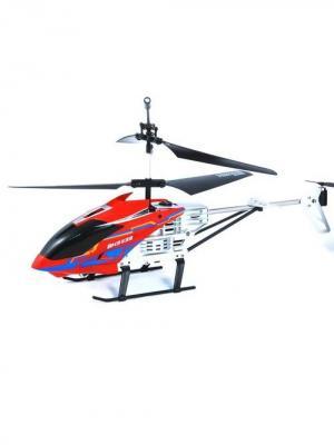 Радиоуправляемый вертолет Крепыш, гироскоп и турбоускорение Красный ВластелиНебес. Цвет: красный