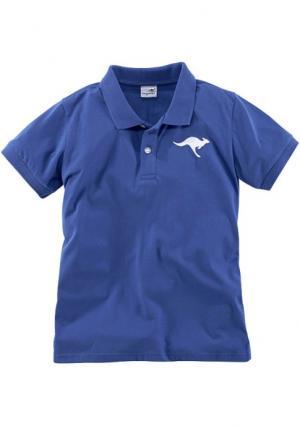 Футболка Kangaroos. Цвет: темно-синий