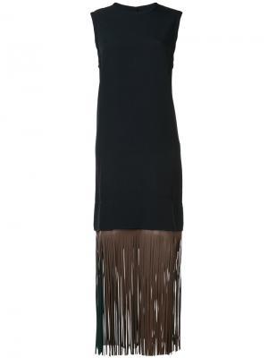 Платье с бахромой Toga. Цвет: синий