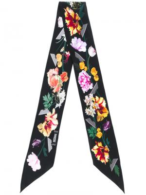 Шарф с цветочным принтом Rockins. Цвет: чёрный