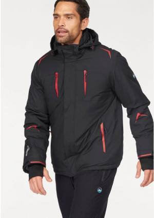 Горнолыжная куртка POLARINO. Цвет: черный