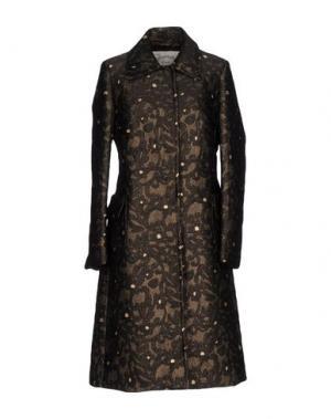 Легкое пальто PINK MEMORIES. Цвет: темно-коричневый