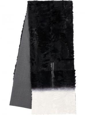Шарф с прорезями для рук Maison Ullens. Цвет: чёрный
