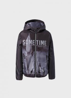 Куртка для мальчиков OSTIN. Цвет: черный