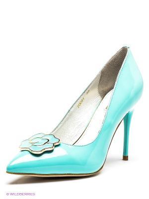 Туфли Vitacci. Цвет: бирюзовый
