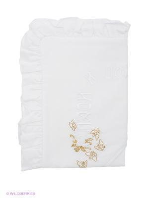 Полотенце-накидка Ангел мой. Цвет: белый, золотистый