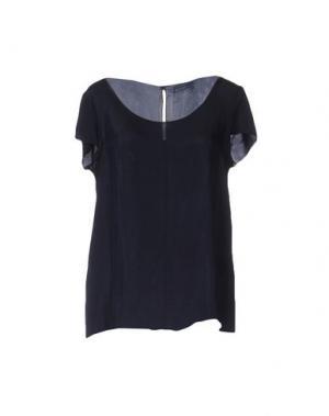 Блузка ALMERIA. Цвет: темно-синий