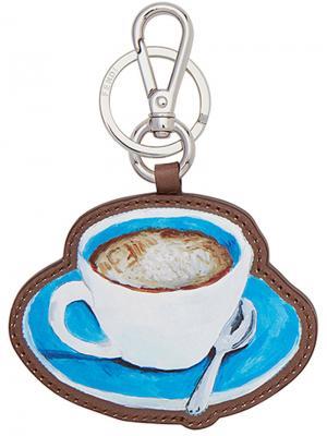 Брелок для ключей с чашкой кофе Fendi. Цвет: синий