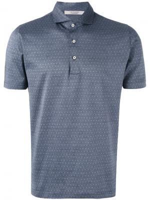 Polka dot polo shirt  La Fileria For Daniello D'aniello. Цвет: синий