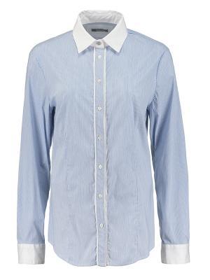 Рубашка Elena Miro. Цвет: голубой