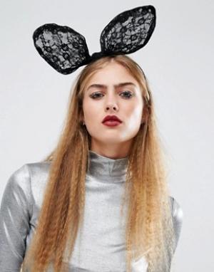 Orelia Ободок с кроличьими ушками Halloween. Цвет: черный