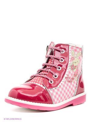 Ботинки ELEGAMI. Цвет: малиновый