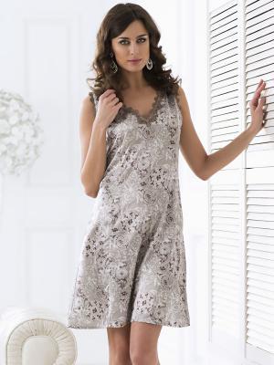Сорочка MIA-MELLA. Цвет: серый