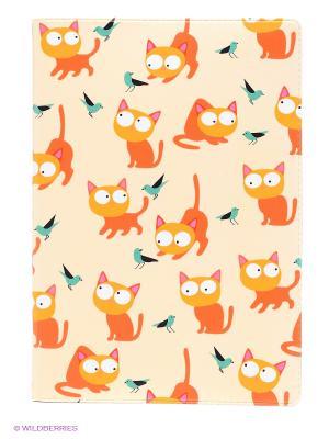 Обложка для автодокументов Рыжие кошки Mitya Veselkov. Цвет: кремовый, рыжий