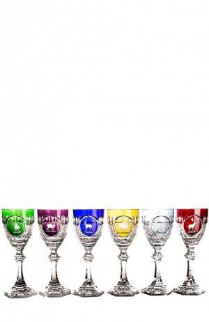 Набор из 6-ти фужеров для вина Hunt Tsar. Цвет: бесцветный