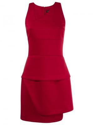 Асимметричное платье Gloria Coelho. Цвет: красный