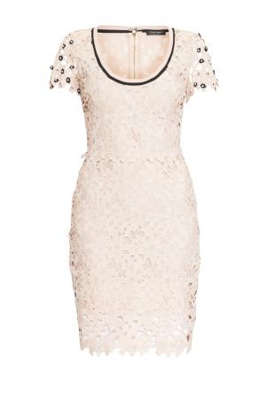 Кружевное платье 163315 Cristina Effe. Цвет: бежевый