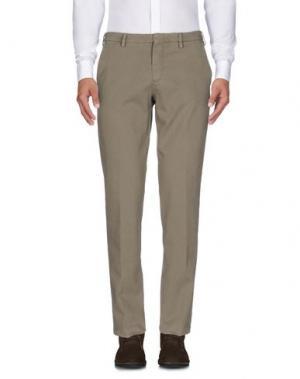 Повседневные брюки MANUEL RITZ WHITE. Цвет: светло-зеленый