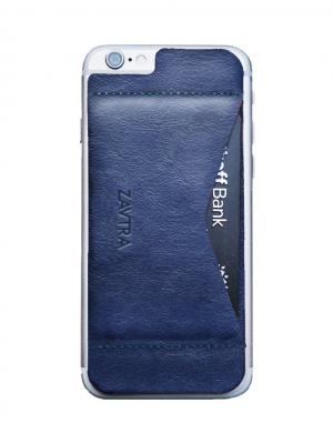 Кошелек-накладка для iPhone 6/6s ZAVTRA. Цвет: темно-синий