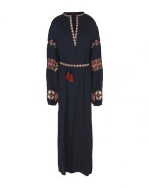 Длинное платье CHRISTOPHE SAUVAT. Цвет: темно-синий