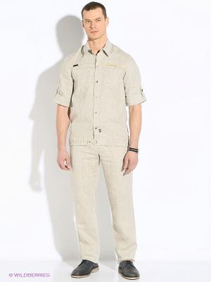 Рубашка RPS. Цвет: бежевый