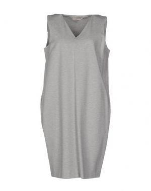 Платье до колена BARBON. Цвет: светло-серый