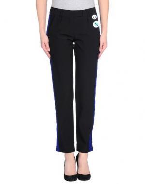 Повседневные брюки BEAYUKMUI. Цвет: черный
