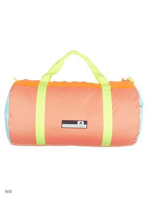Спортивная сумка жен. SC TB CLRBLK CLAQUA/SORANG/BLICOR Adidas. Цвет: рыжий, голубой, салатовый