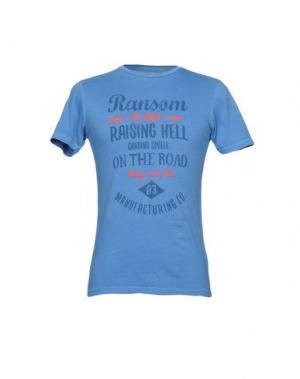 Футболка RANSOM. Цвет: синий
