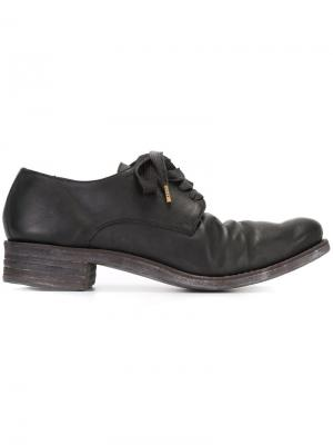 Потертые ботинки-дерби A Diciannoveventitre. Цвет: чёрный