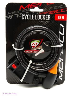 Велозамок с ключом Meratti. Цвет: черный, рыжий