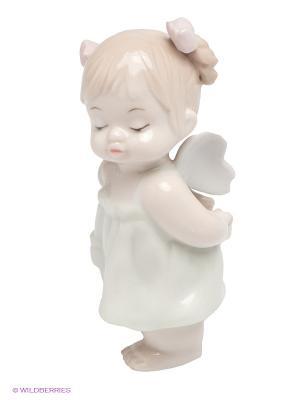 Фигурка Ангелочек-девочка Pavone. Цвет: белый, бежевый
