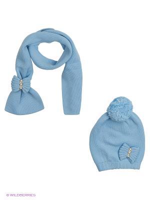 Комплект  (шапка,шарф) R&I. Цвет: голубой