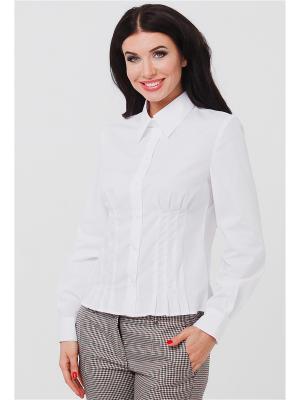 Блузка VICTORIA VEISBRUT. Цвет: белый