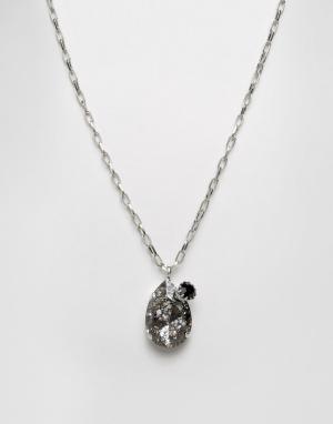Krystal Ожерелье с подвеской из кристалла Swarovski. Цвет: серебряный