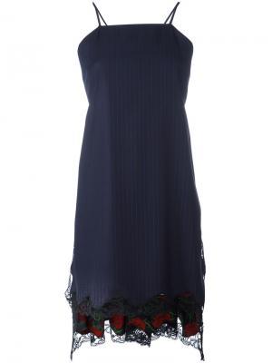 Расклешенное платье-фартук Alexander Wang. Цвет: синий