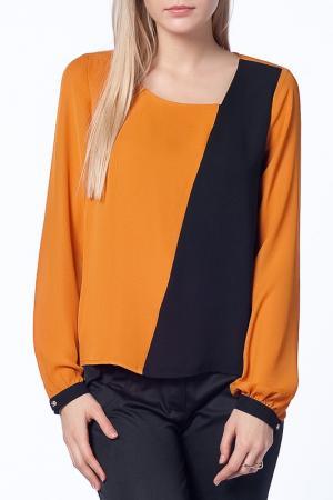 Блузка Duse. Цвет: оранжевый